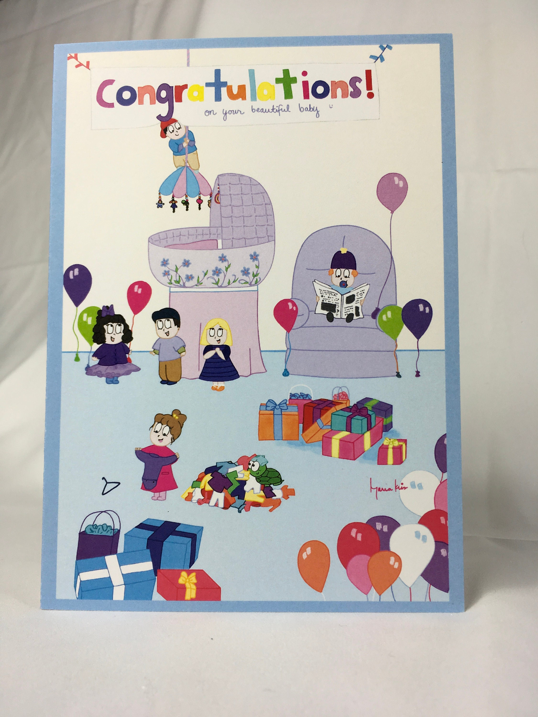 Gifts and Todds Baby Shower Card