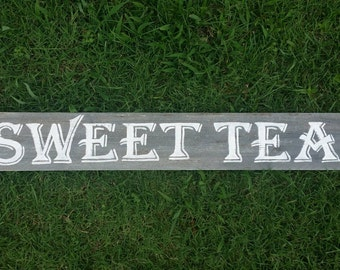 Sweet Tea Sign, Rustic Wood Sign Farmhouse Kitchen Sign