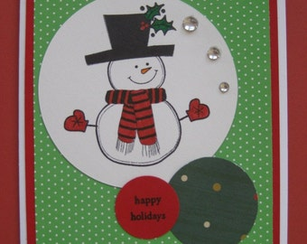 Holiday Snowman Christmas Card