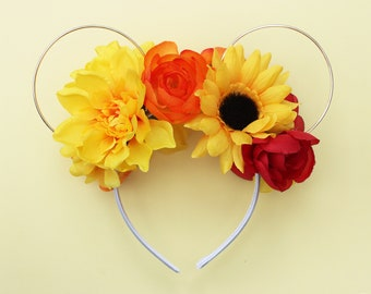 Sunny Yellow Floral Wire Mouse Ears
