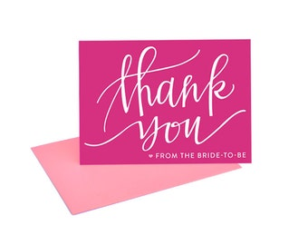 Bright and Cute Thank You Cards from the Bride-To-Be --- Set of 8