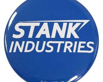 Civil War Tony Stark Stank Industries Parody Geek 2.25 Inch Button