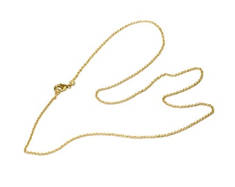 """Brass Link Chain 30"""" Brass Necklace  Thin Brass Chain  Layering Chain Long Chain Free UK Delivery"""