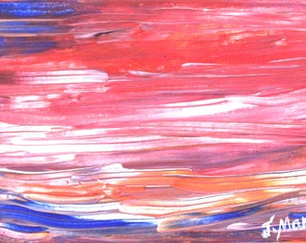 ABSTRACT SASCAPE at SUNSET, by Jo Monks.