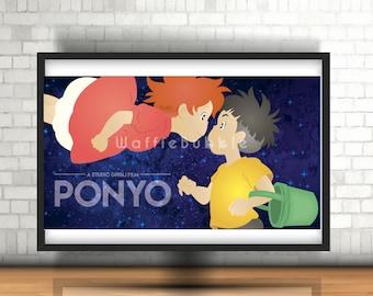 Ponyo Mini Print