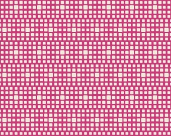King's Road Fuchsia, Art Gallery Squared Elements, Fiesta Fun by Dana Willard, CST-3101, Hot Pink Fabric