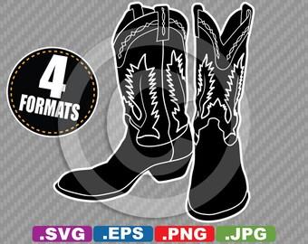 Cowboy boots svg | Etsy