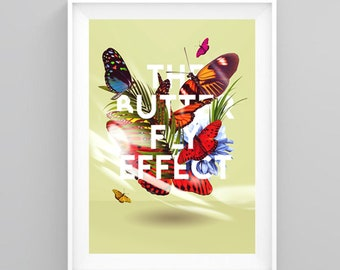 Butterfly effect, A3/A4 Digital Print