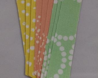 Pastel Dots Fabric Washi Tape, 9 strips
