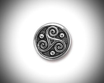 Triskelion Lapel Pin Celtic Boutonniere Silver Triskele Tie Tack, Groomsmen Gift Celtic Jewelry Outlander Voyager Lapel Pin