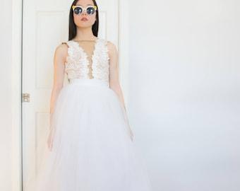 Tulle Skirt |  White Maxi Skirt, Long Tulle Skirt, Tulle Skirt, Adult Tulle Skirt, Tulle Wedding Skirt, Bridal Separates, Black Owned Shop