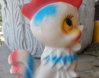 Vintage early 1960's Chicken Squeek Toy