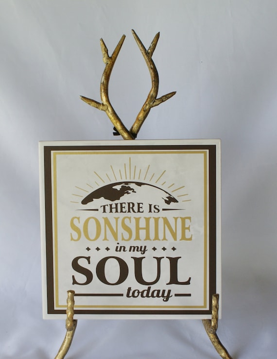 Everyone needs some SONSHINE! - Christian Decor - Decorative Tile - Earth Tones - Encouragement - Secret Sister Gift - Inspirational Decor