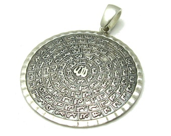 PE001100 Sterling silver Religious Muslim pendant  solid 925