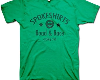Green Spokeshirt Road and Race cycling tee