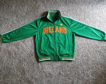 Vintage Ireland St Patricks Day Mens Track Jacket Futbol Size Medium