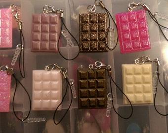Candy Bar Dust Plug Cell Phone Charm