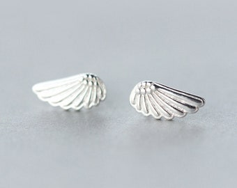 Classic Tiny Wing Sterling Silver Earrings, Wing Earrings, Wing Jewelry, Silver Wing, Angel Earrings, Icarus, Alas, Sterling Stud, Mercury