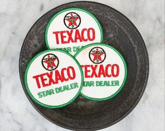 Vintage Texaco Uniform Patch / 1970's Jacket Patch / Texaco Star Dealer