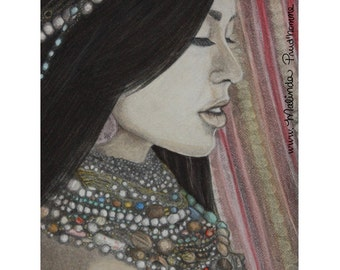 What Is Beauty - ART PRINT - 8 x 10 - By Mixed Media Artist Malinda Prudhomme