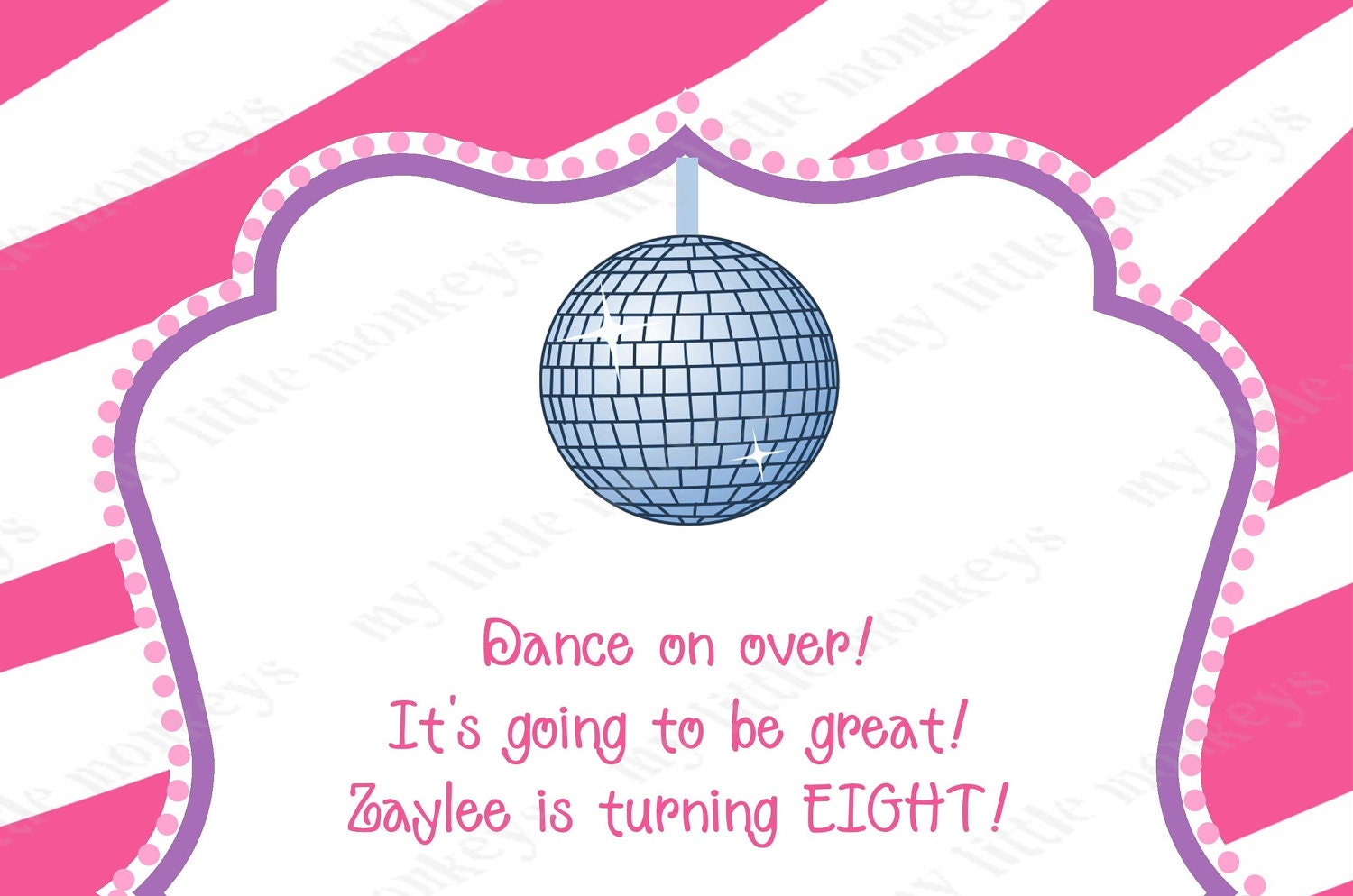 Dance Disco Birthday Party Invitations With Envelopes - Disco birthday invitation templates free