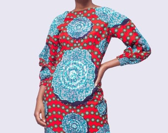 Stoned African Print Dress, Ankara Dress, African Clothing for Women, African Print Dress, African Clothing, African Women Dress