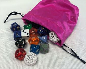 Pink Spandex Mini Dice Bags