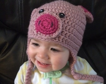 Pig Hat ... with earflaps