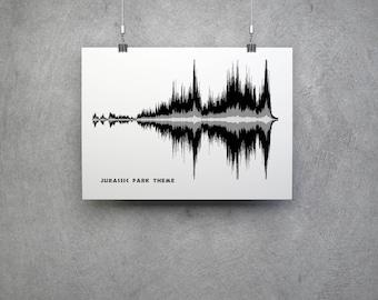 TV/Film Gift - Jurassic Park Theme Soundwave Artwork