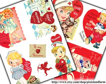 Valentine Nurse Printable Digital Download