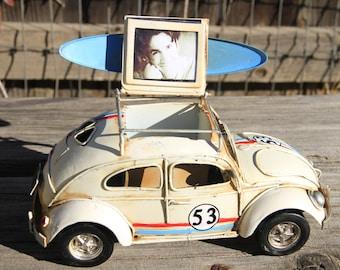 Volkswagen Herbie loaded with surfboard
