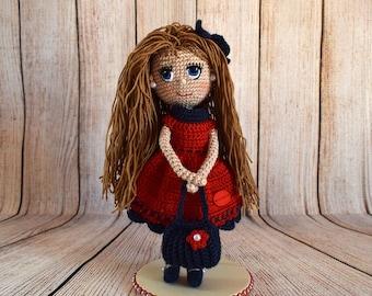 Muñeca crochet, muñeca ganchillo, muñeca amigurumi, hecho a mano, crochet doll, crochet amigurumi, handmade, doll, amigurumi, regalo,present
