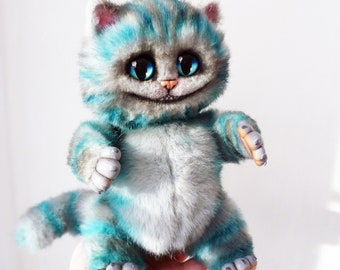 Cheshire cat, Alice in Wonderland, stuffed toy, ooak