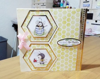 Female/Kids/Childrens Birthday Card - Bumble Bee - luxury unique quality UK - Mum/Grandma/Daughter/Aunt/Niece/Sister