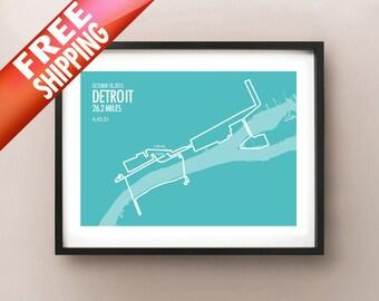 Detroit Marathon Print 2015