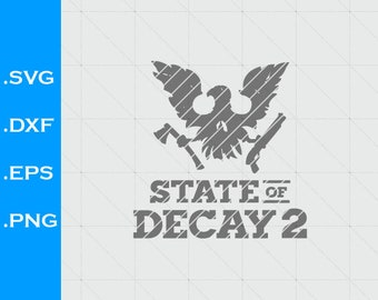 State of Decay 2 inspired, SVG, DXF, Videogames, EPS, Vector, Silhouette Studio, clipart, scal, png, eagle, weapons, axe, shotgun