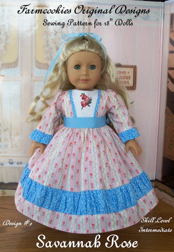 """PRINTED Sewing Pattern / Historical Savannah Rose / Sewing Patterns Fit American Girl®  or other 18"""" Dolls"""