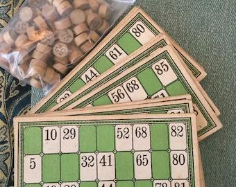 Vintage / Estate Find - BINGO and Solid Wooden BINGO numbers