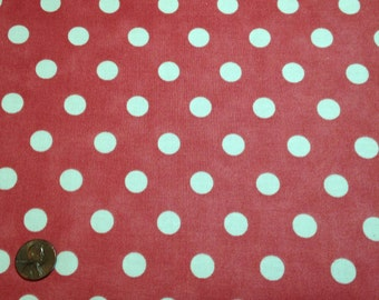 Dottie Junior by Moda, Off White Dots on Faded Red #8655-14, by the yard C230E