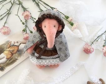 Handmade Elephant Plushie Teddy Toy Soft