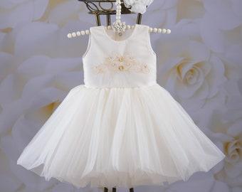 flower girl dress, communion dress, white flower girl dress, holy communion dress, girl wedding dress, girl tulle dress, dresses for girls