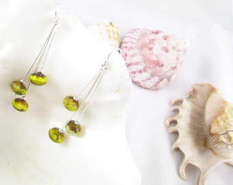 Yellow Sterling Silver Earrings with Free Shipping