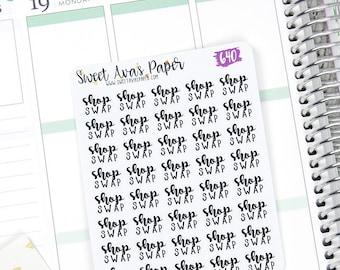 Boutique Stickers propriétaire - Word Art Boutique Stickers - lettrage Stickers - Swap autocollants - Stickers Swap - convient à la plupart des planificateurs - 640