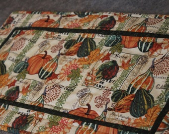 Beige Pumpkin Squash Fall  25  X 13 Table Runner Topper