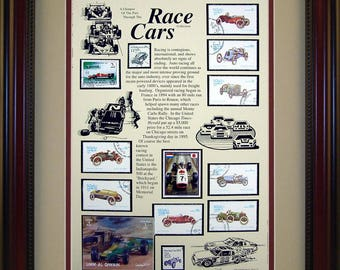Race Cars 2864 - Personalized Framed Collectible (A Great Gift Idea)