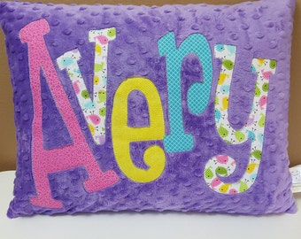 Personalized Applique Pillow * Accent Pillow * Minky Pillow