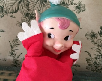 1959 S. S. Kresge Elf Hand Puppet in Good Condition - So Cute!