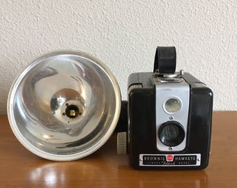 1950's Kodak Brownie Hawkeye Camera with Flash Cover
