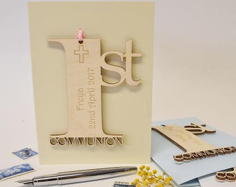 1st Holy Communion Card, Personalised Communion Card, Communion Card, 1st Holy Communion, Religious Card, Holy Communion Card