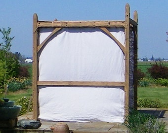 Wall Kit for Standard Size Sukkah Frames, Natural Fiber, Kosher